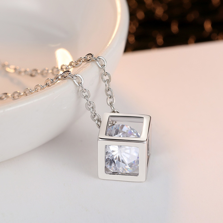 Crystal Cube Necklace  - Picture 2