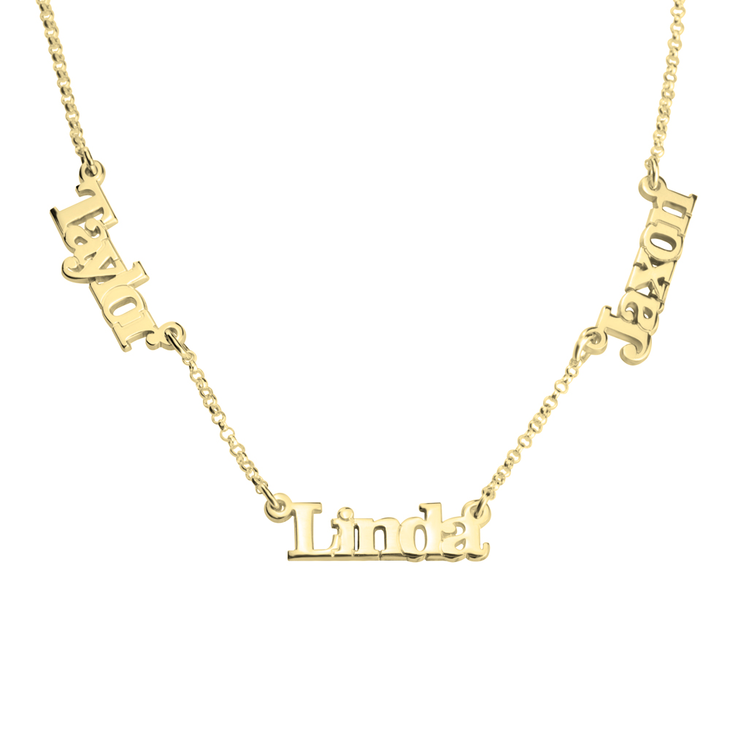 Multiple Name Necklace with Two or Three Names - Picture 2