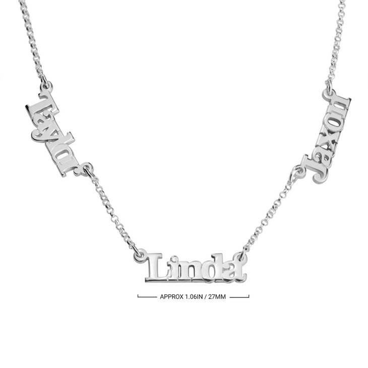 Multiple Name Necklace with Two or Three Names - Information