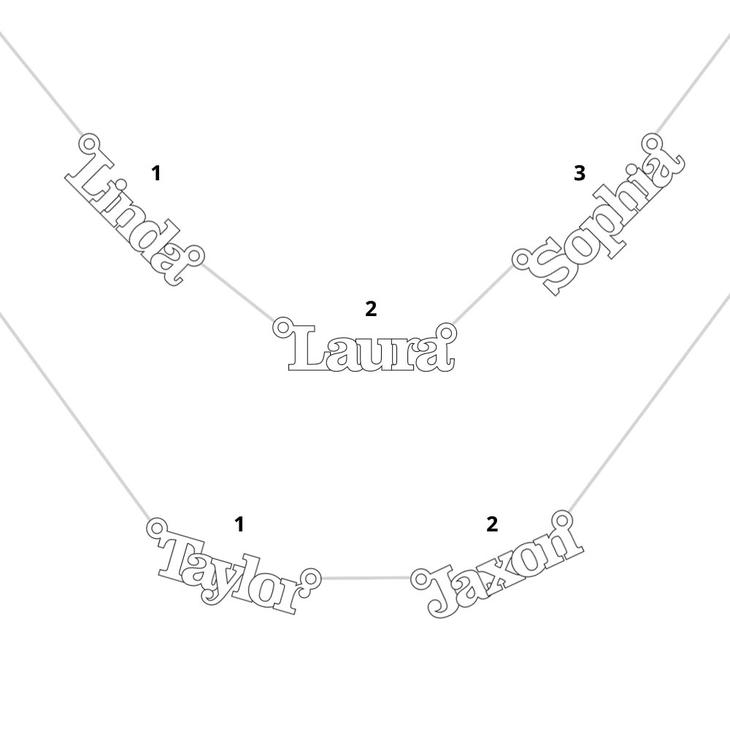 Collar con Múltiples Nombres - Information