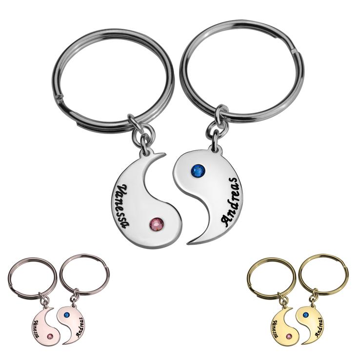 Personalised Yin Yang Keychain