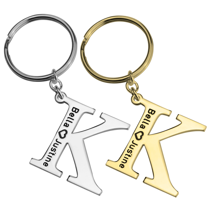 Personalised Initial keychain