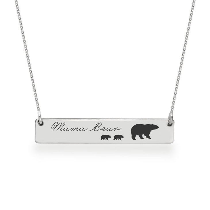 Personalized Mama Bear Necklace  - Picture 2