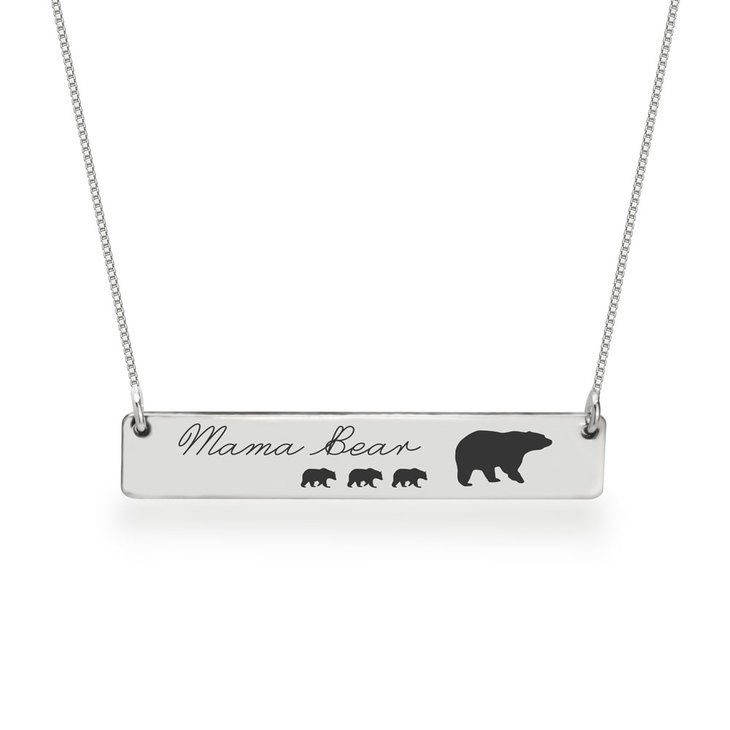 Personalized Mama Bear Necklace  - Picture 3