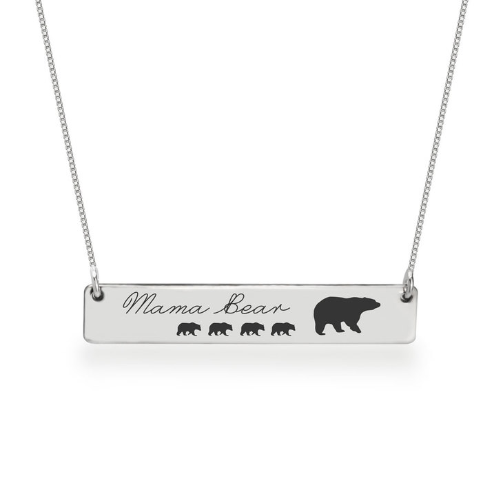 Personalized Mama Bear Necklace  - Picture 4