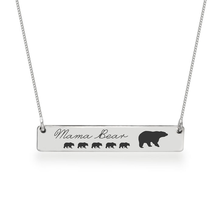 Personalized Mama Bear Necklace  - Picture 5