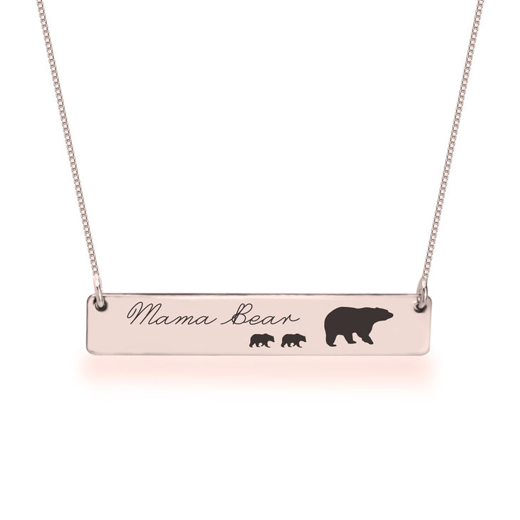 Personalised Mama Bear Necklace  - Picture 2