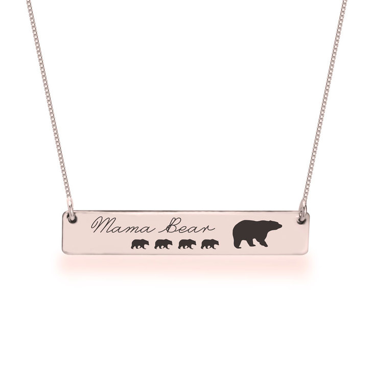 Personalised Mama Bear Necklace  - Picture 4