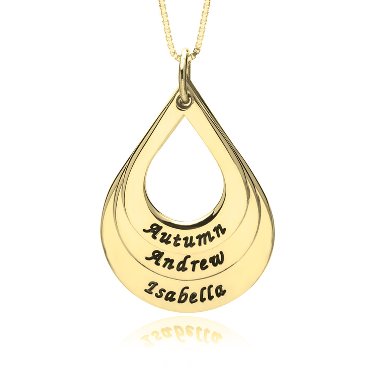 Teardrop Mother Necklace