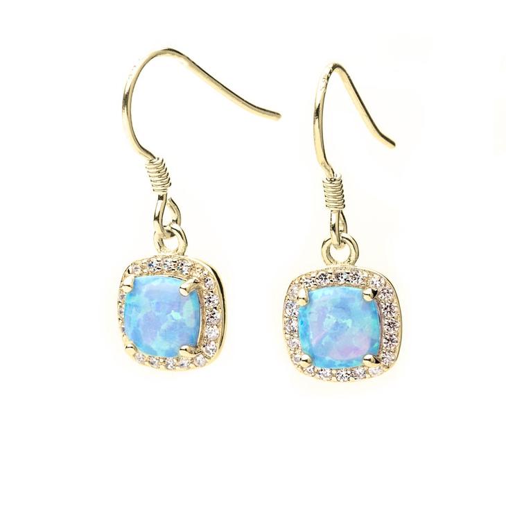 Turquoise Opal Earrings