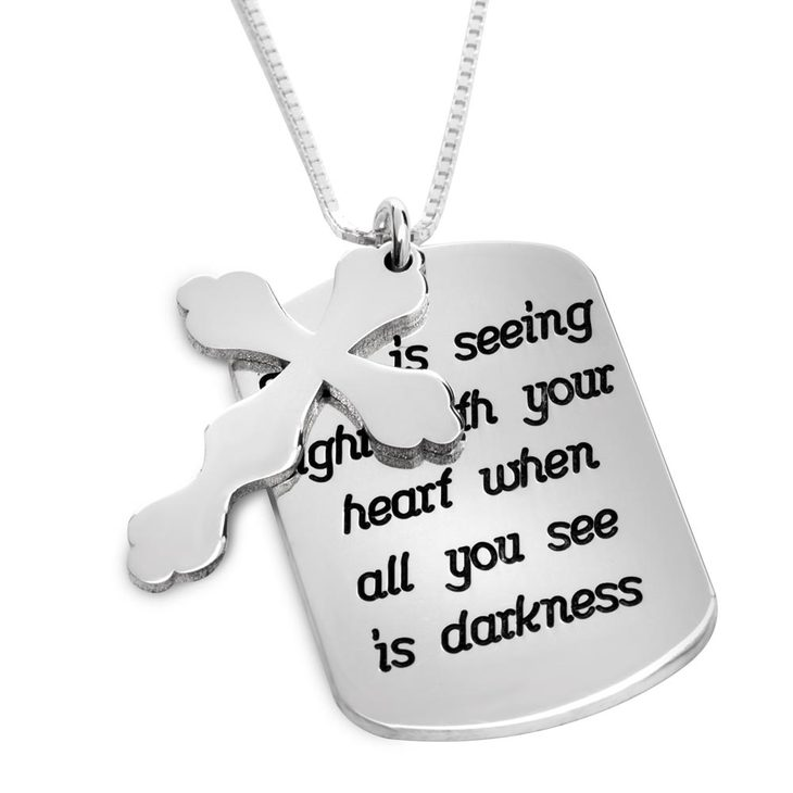 Personalised Prayer Cross Necklace  - Picture 2