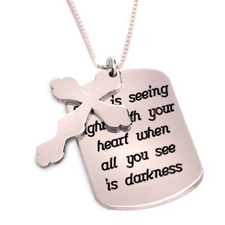 Personalized Prayer Cross Necklace - Picture 2