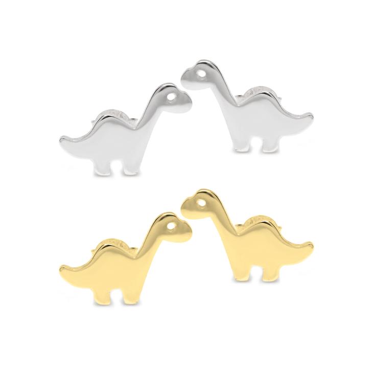 Aretes de Dinosaurio Cuello Largo Bebé