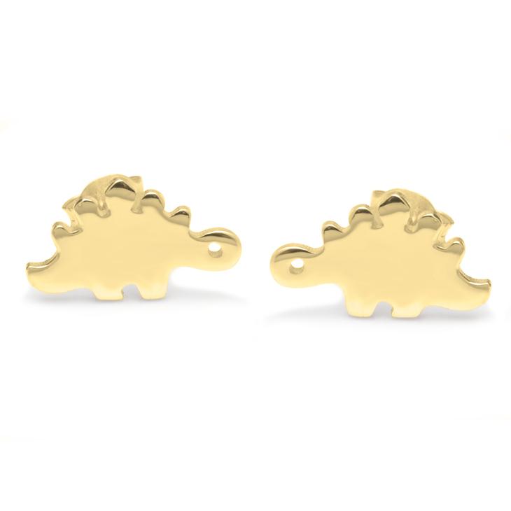 Baby Dinosaur Stud Earrings - Picture 2