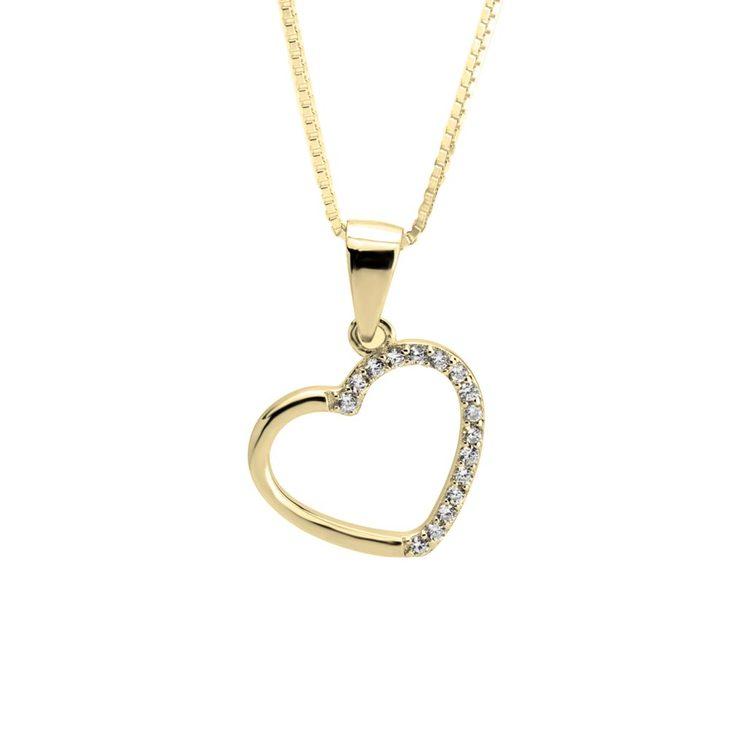 Zirconia Heart Necklace