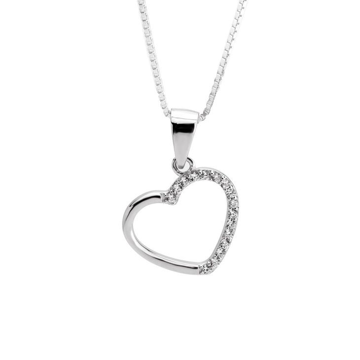 Zirconia Heart Necklace