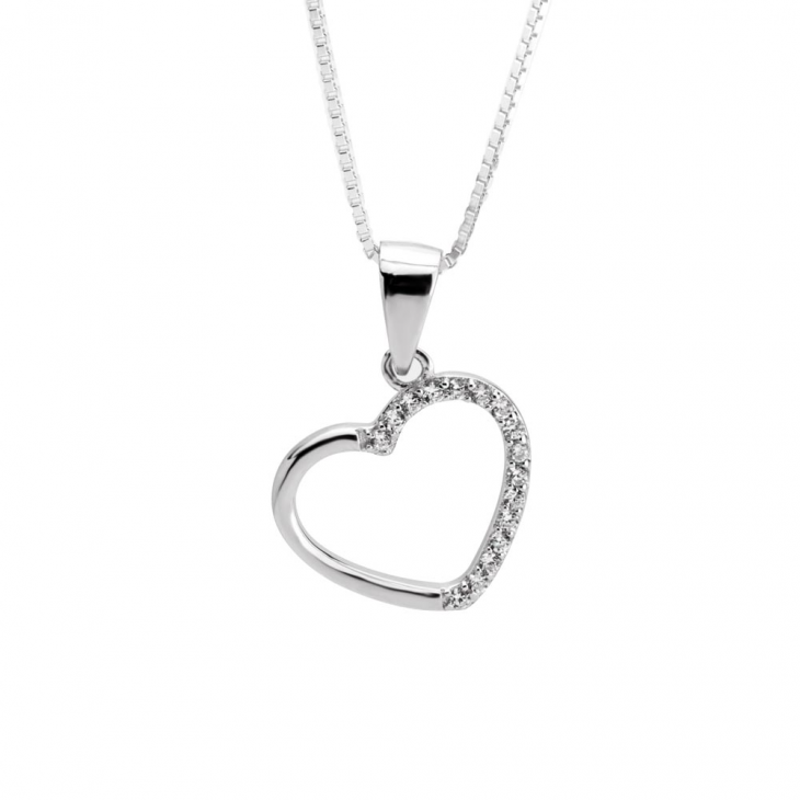 Heart Necklace And Earring Set  - Picture 2