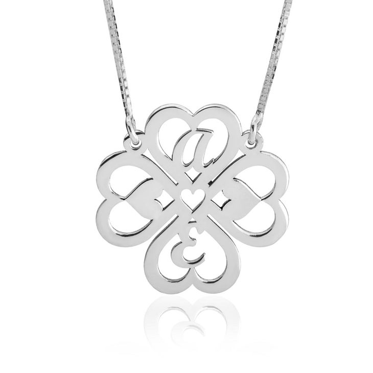 Personalized Four Leaf Clover Necklace - Picture 2