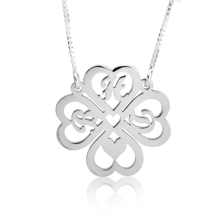 Personalised Four Leaf Clover Necklace  - Picture 3