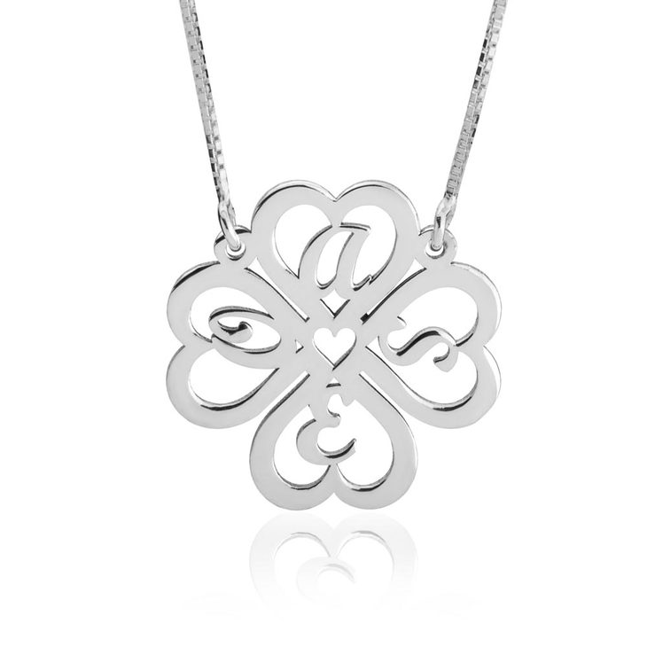 Personalised Four Leaf Clover Necklace  - Picture 4