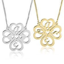 Personalised Four Leaf Clover Necklace