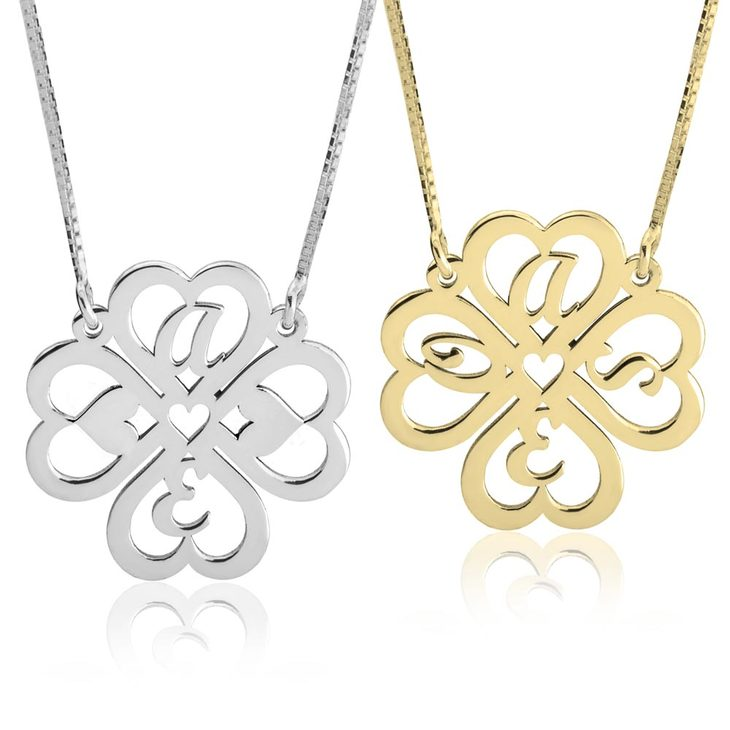 Personalized Four Leaf Clover Necklace