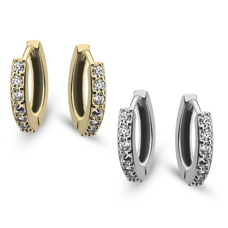 Zirconia Hoop Earrings