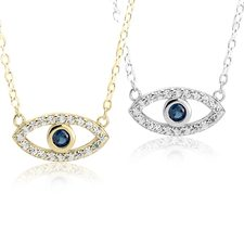 Eye Necklace With Cubic Zirconia