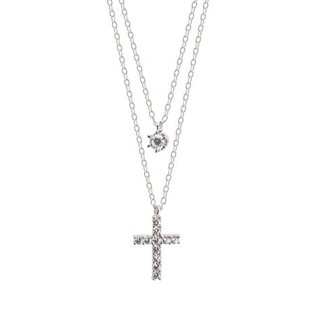 Colliers Superposés avec Croix