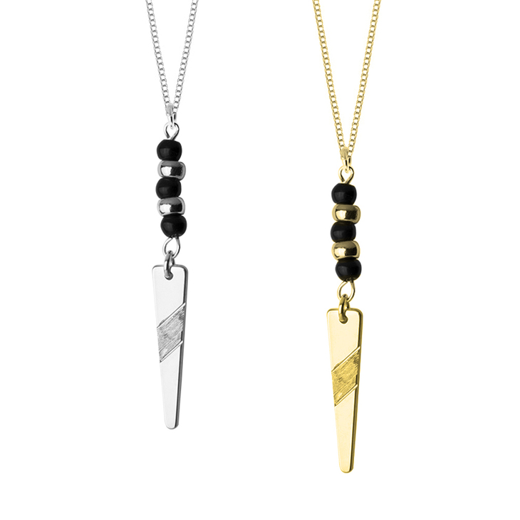 Long Geometric Necklace