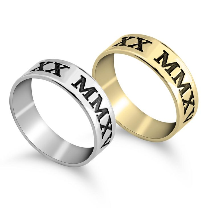 Personalised Roman Numeral Ring