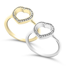 Heart Ring with Cubic Zirconia