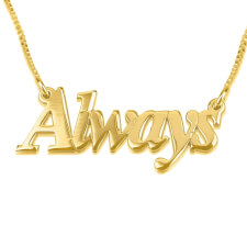 14K Gold Thicker Font Name Necklace