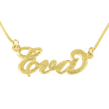 Brushed 14k Carrie Name Necklace