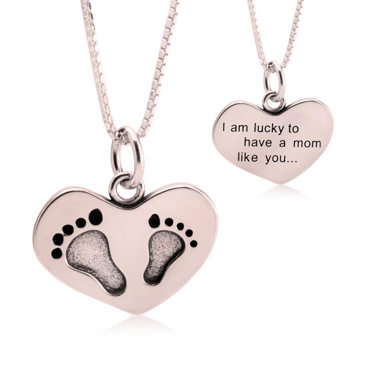 Footprint Stamp Necklace