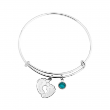 Pulsera Bangle con Pies de Bebé