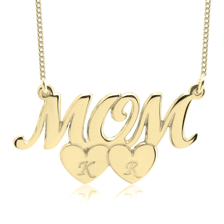 Collier Mom Cœurs et Initiales - Picture 2