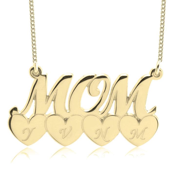 Collier Mom Cœurs et Initiales  - Picture 4