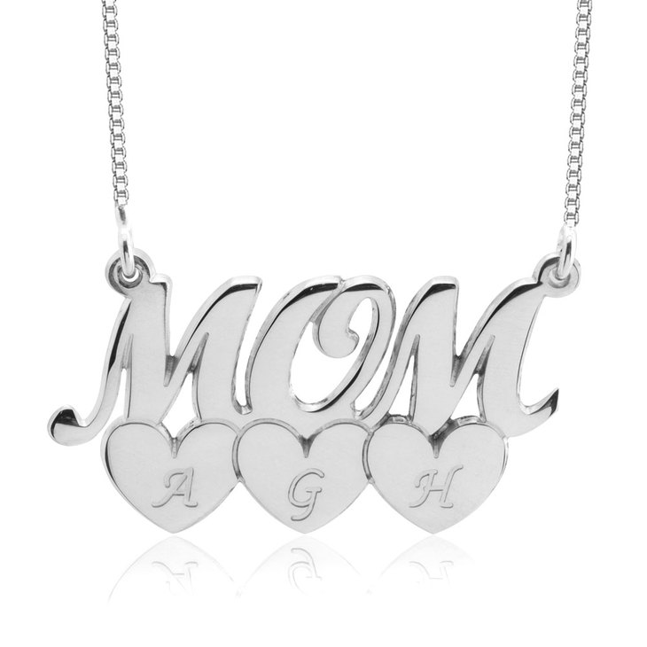 Collier Mom Cœurs et Initiales - Picture 3