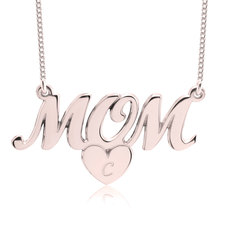 Collar de Mamá con Iniciales en Corazón