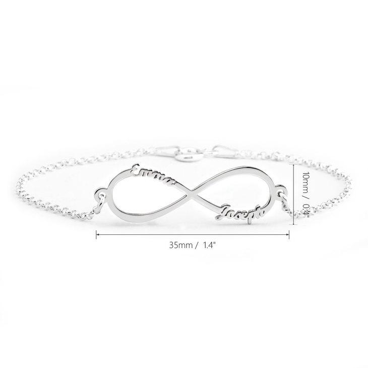 Infinity Name Bracelet - Information