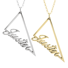 Collier Prénom triangle
