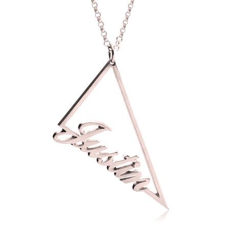 Collar de Triángulo con Nombre