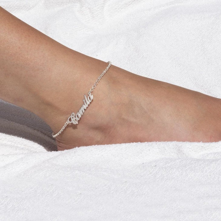 Custom Name Anklet - Model