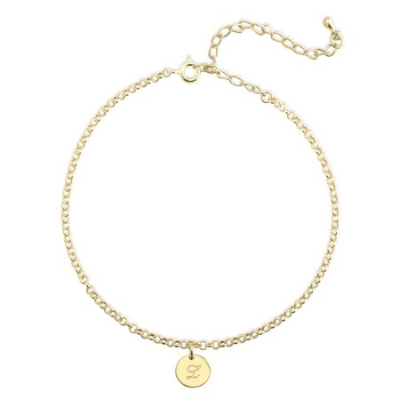 Initial Anklet - Ankle Bracelet with Initial