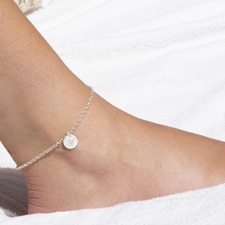 Initial Anklet - Ankle Bracelet with Initial - Model