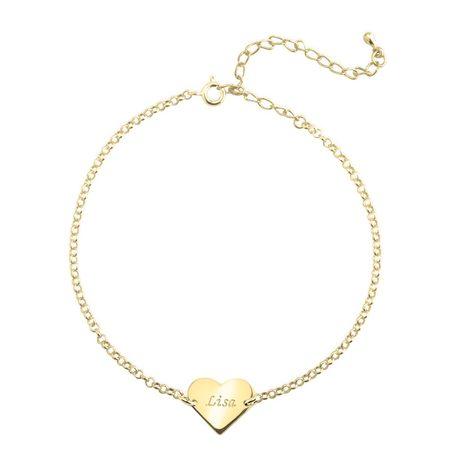 Engraved Heart Anklet