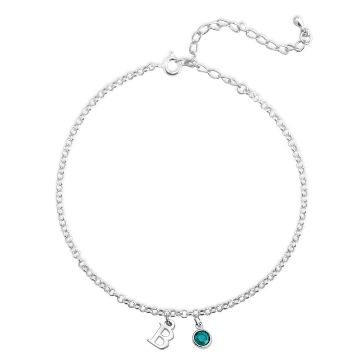 Personalized Anklet with Birthstone