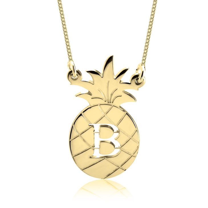 Personalised Pineapple Necklace