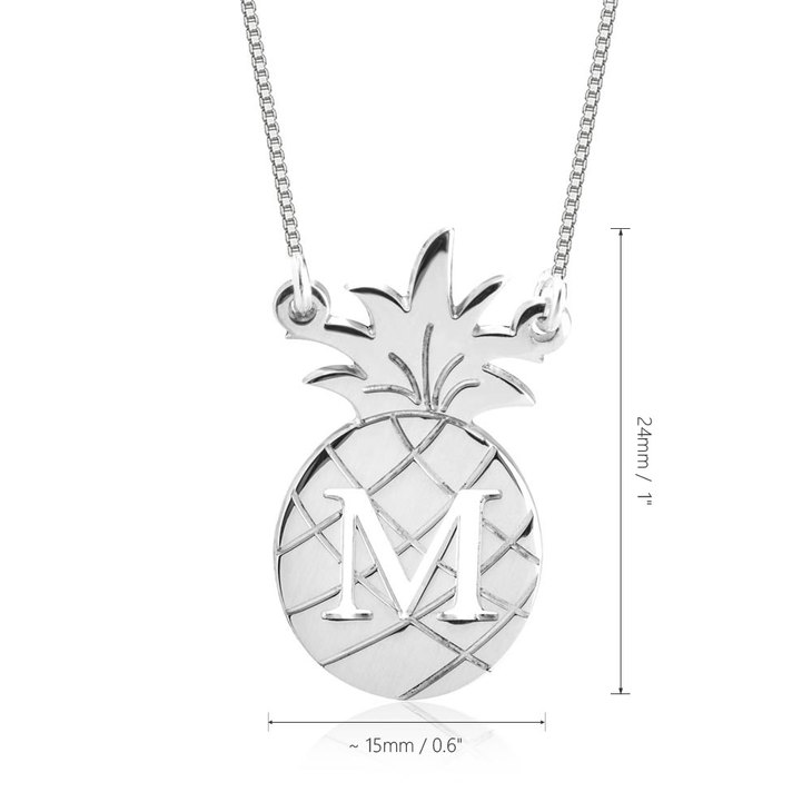 Personalized Pineapple Necklace - Information